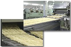 インスタントラーメンの製造工程