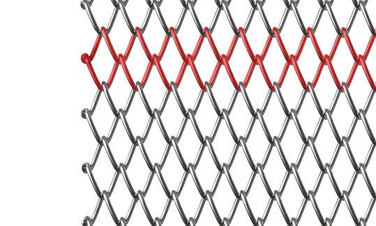 Sタイプ金網 左スパイラル(螺線)